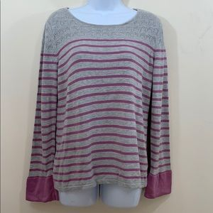 Hannah Long Sleeve Striped Sweater  Size L